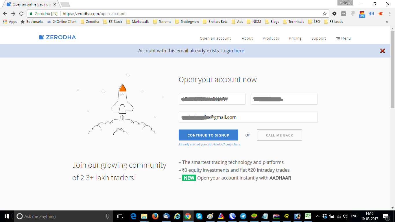 Zerodha Account Opening Login