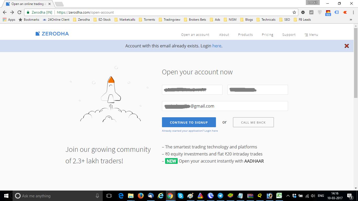 Zerodha Account Opening Login