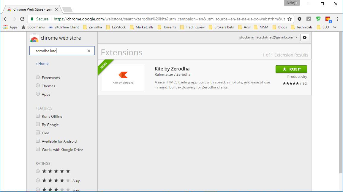 Zerodha Kite Chrome Extension
