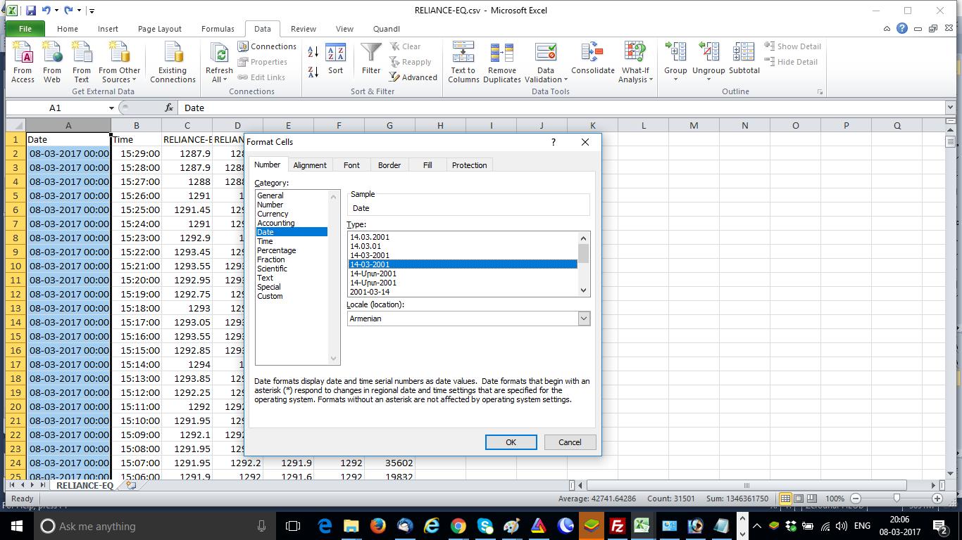 Format Cells Excel