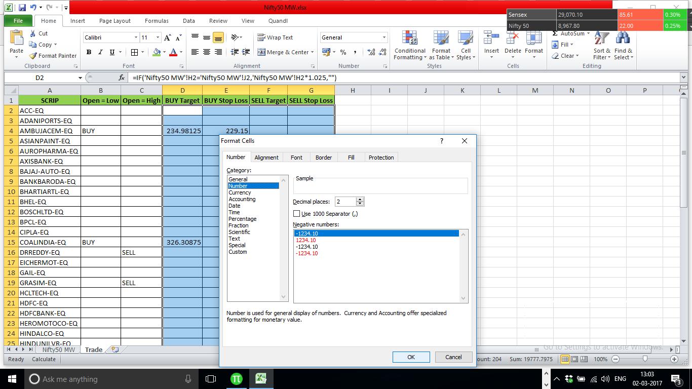 Format CellsIn Excel Sheet