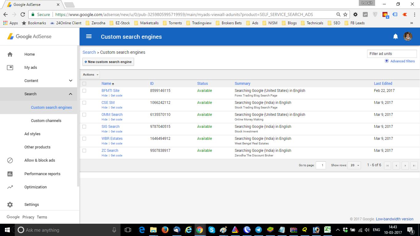 New Custom Search Engine