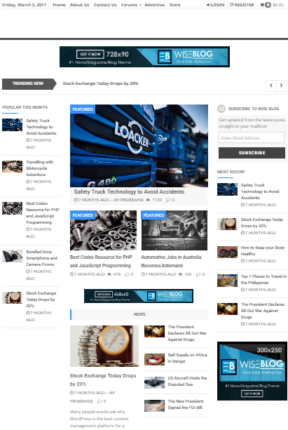 Wise Blog Best Adsense Ready WordPress Theme