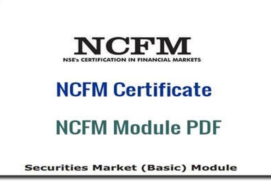 NCFM Certificate