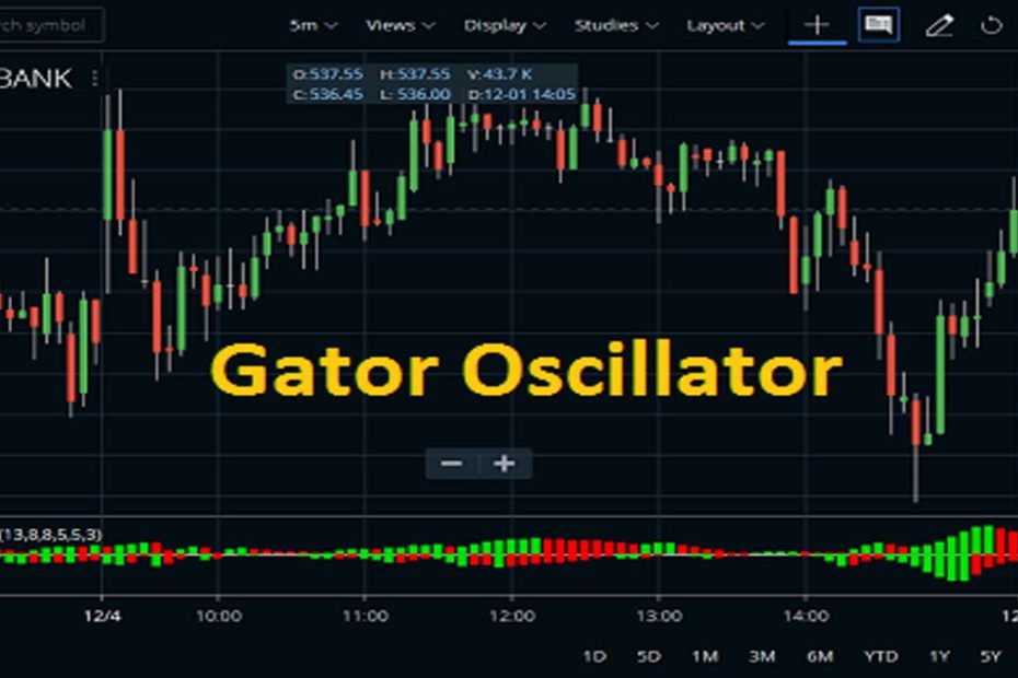 Gator Oscillator in Zerodha Kite Indicator
