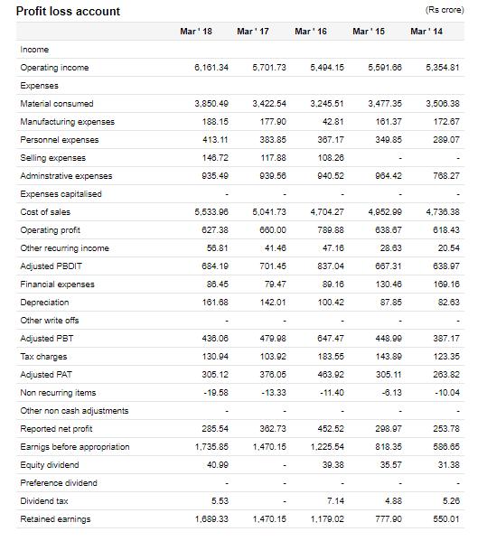 CEAT Financial Statements