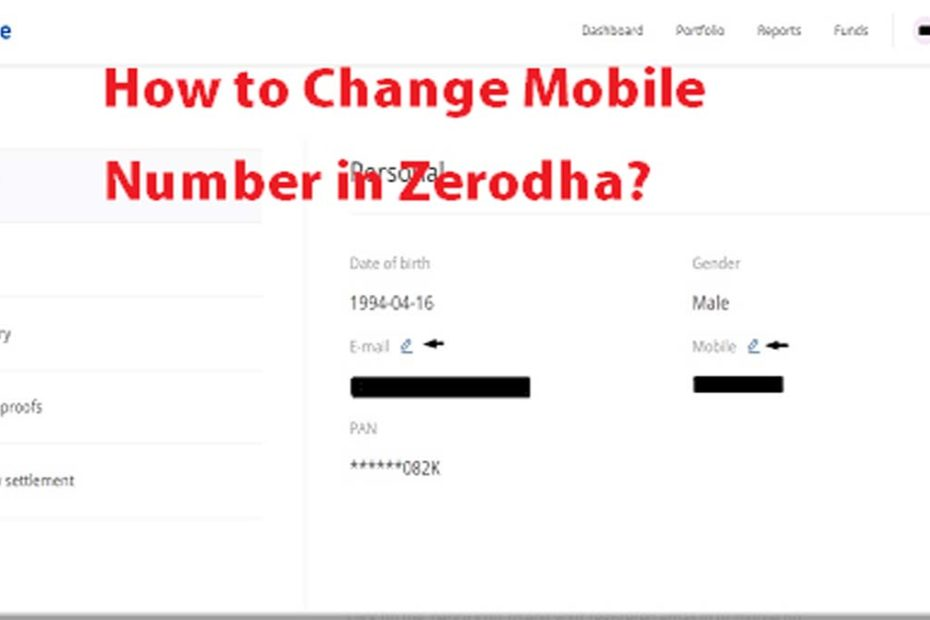 How to Change Mobile Number in Zerodha pic