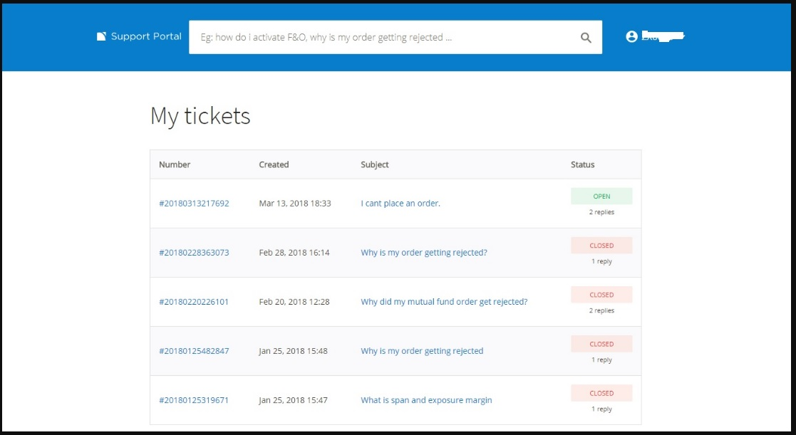 zerodha ticket