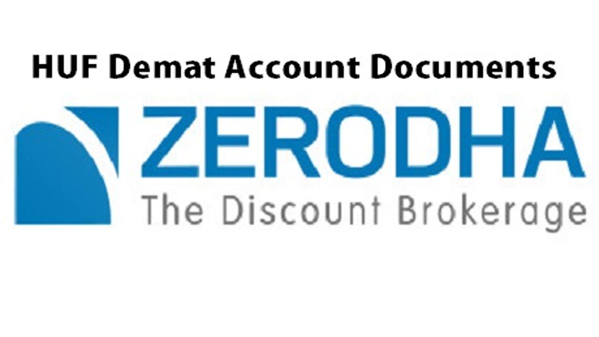 HUF Demat Account Documents In Zerodha