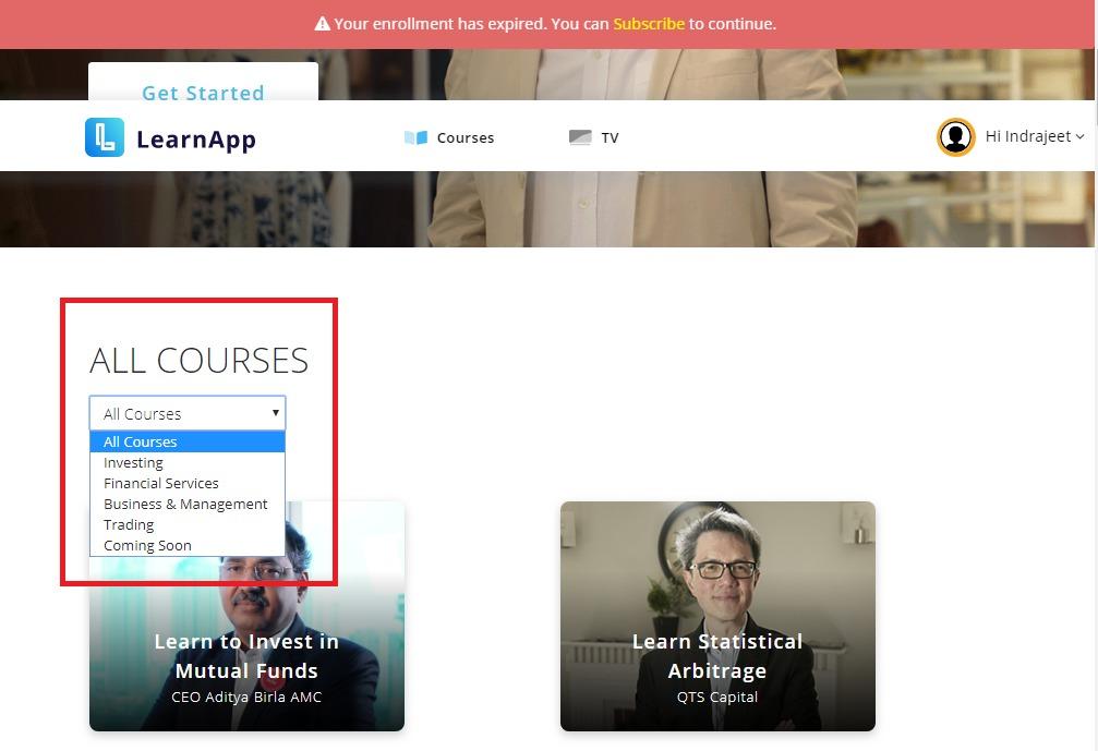 Learnapp Courses List