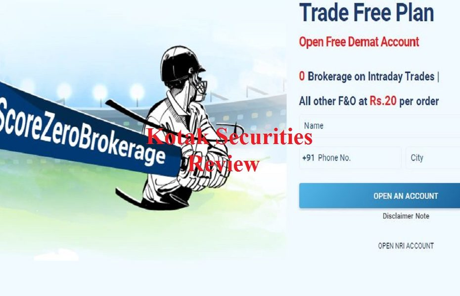 kotak securities brokerage charges