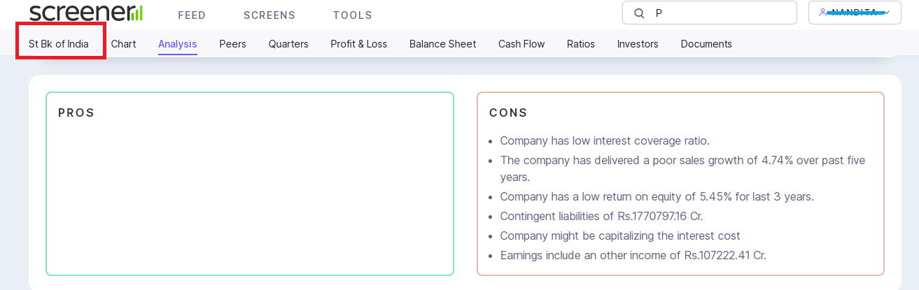 Ther pros and cons of companies using fundamental stock analysis website screener.in