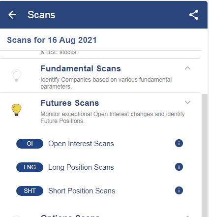 Future scan option.