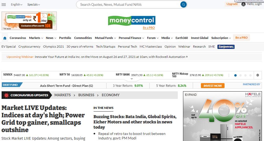 Stock screening website moneycontrol