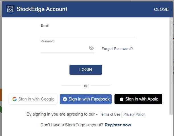 Stockedge account opening.