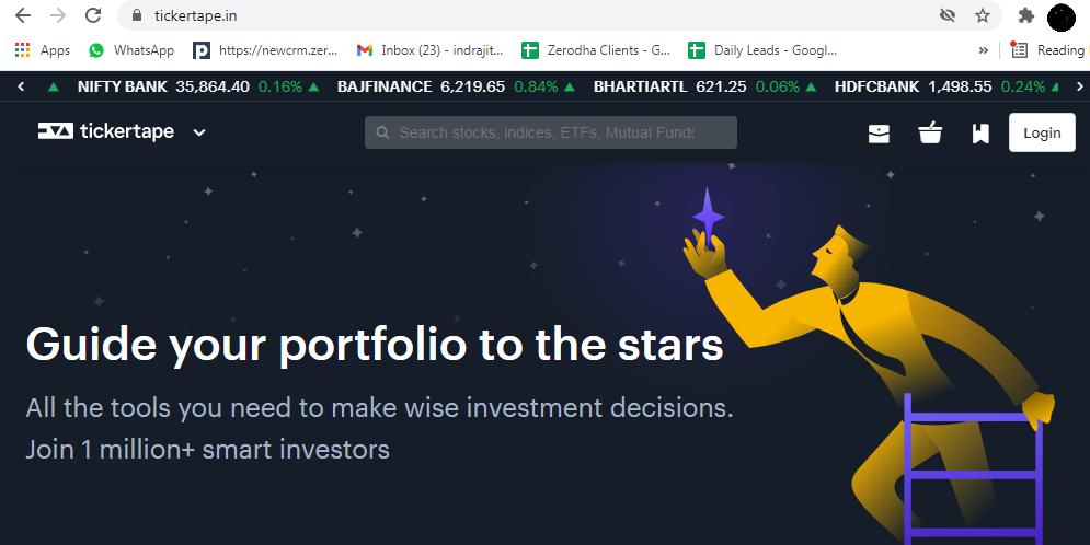 Stock screening website Tickertape.in